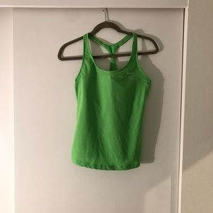 Nike women's tank with built in bra